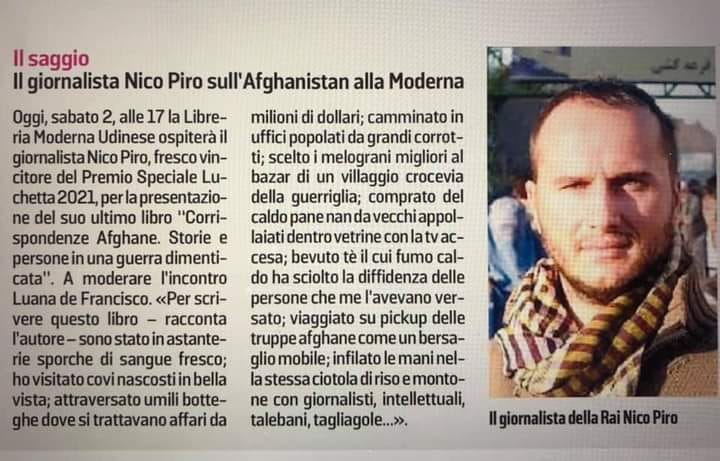 Corrispondenze Afghane a Udine